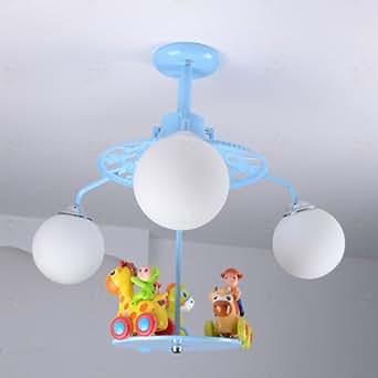 cartoon blue carousel children 39 s room ceiling lamp fashion
