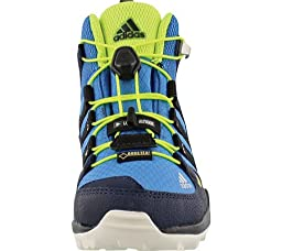 Adidas Outdoor 2015 Kid\'s Terrex Mid GTX Mountain Sport Shoes - B22814 (Super Blue/Black/Solar Yellow - 6)