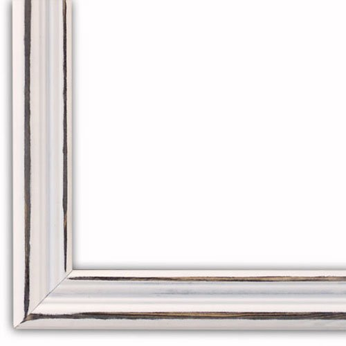 White Wood Frame : Distressed White Picture Frame-Solid Wood, 13×19  13x19 frame