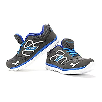 Elligator Grey & Blue Stylish Sport Shoes for Men\'s at amazon
