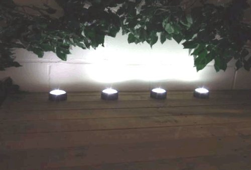 Smart Solar Power White Deck Lights 4pk