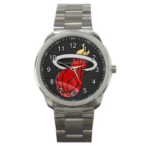 NBA Miami Heat Graphic Logo Sport Metal Watch