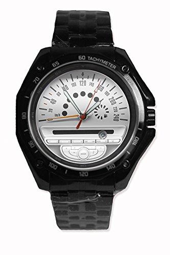 Design Mini Cooper Speedometer Custom Snap On Black Watch Stainless Steel