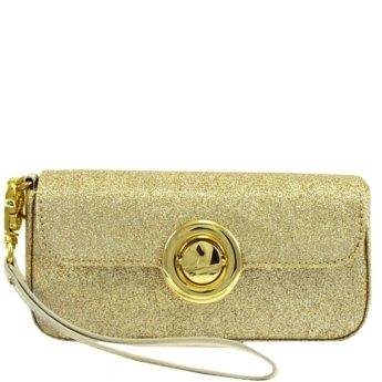 Bakers Womens Violet Clutch Handbag Gold No Size