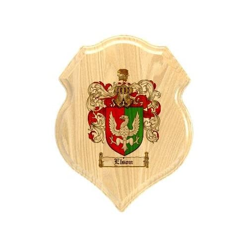 Amazon.com : Elson Coat of Arms Plaque / Family Crest Plaque