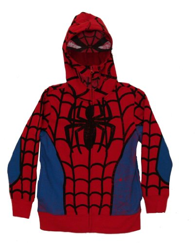 The Amazing Spider-Man Marvel Comics Costume Mask Zip Up Youth Hoodie