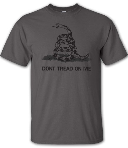 Charcoal Don'T Tread On Me T-Shirt - Small