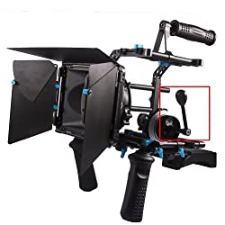 Neewer 10071510  M1 12mmx12mm Follow Focus Aluminum Speed Crank Handle Safty-Lock Design for DSLR Cameras and Video Camcorders