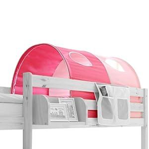 Tente de lit rose table de lit a roulettes - Tente pour lit mi hauteur ...