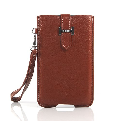 【全3色】Samsung Galaxy Note ケース GT-N7000 カバー SC-05Dケース 高品質なPUレザーケース ハンドストラップ ブラウン PU Leather Case for Galaxy Note / GT-i9220 液晶保護フィルム付(7300-2)