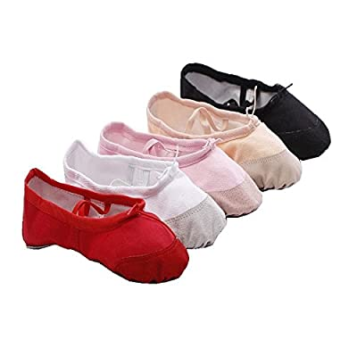 Girls Kids Soft Canvas Ballet Fitness