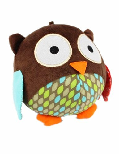 wowowotm-cute-high-end-animal-ball-shaped-plush-dog-toy-pet-interactive-toy-a-bell-inside-owl-brown-