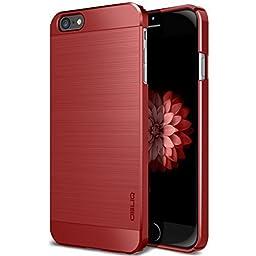 iPhone 6S Case, OBLIQ [Slim Meta][Metallic Red] Premium Slim Fit Thin Armor All-Around Shock Resistant Polycarbonate Metallic Case for Apple iPhone 6S (2015) & iPhone 6 (2014)