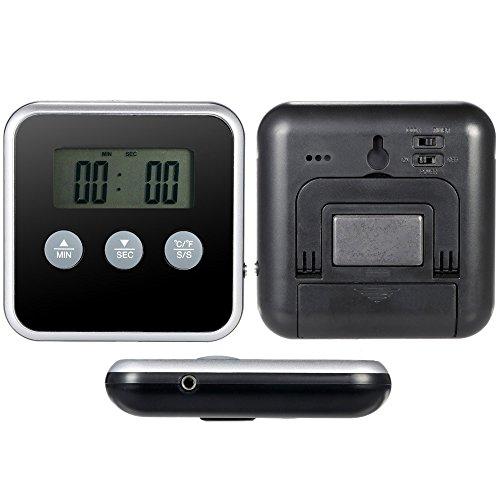 Thermomètre Numérique de Cuisine Rôti avec Minuterie Sonde et Fonction Chronometrage de Cuisson