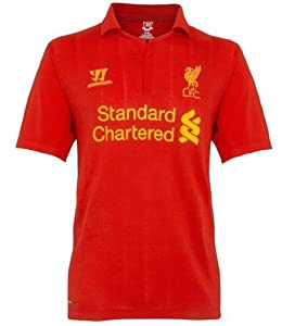 Warrior Kids Liverpool Football Club Home Short Sleeve - High Risk Red Medium from Warrior