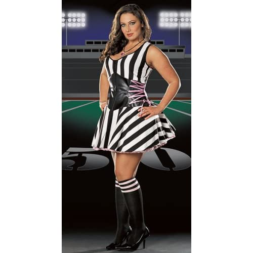 Sexy   Halloween Costumes: Hot Moms in Lipstick Referee Costume