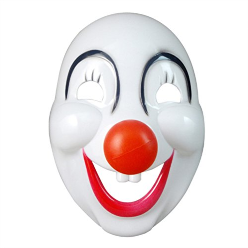 [Red Nose Clown's Roaring with Laughter Mask Costume Mask Halloween Mask] (Smiley Horror Mask)