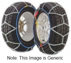 Pair of Snow Ice Chains Husky 9mm 95 225 45 x 17