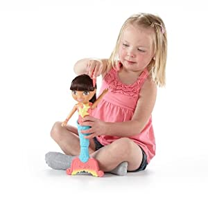 (金盒)Fisher-Price Dora The Explorer Dive 费雪朵拉美人鱼玩具$10.99,