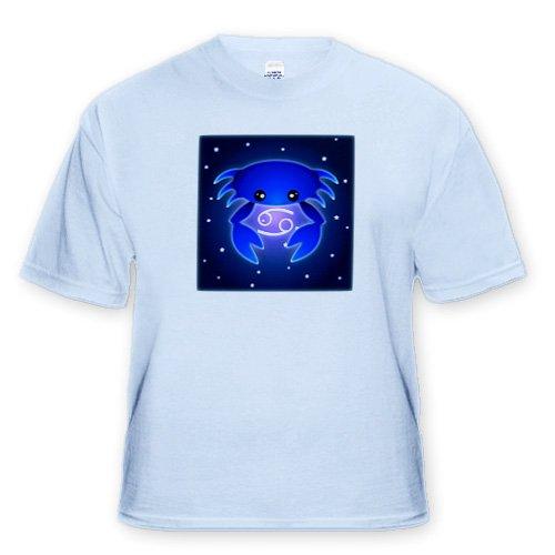 Cute Astrology Cancer Zodiac Sign Blue Crab - Adult Light-Blue-T-Shirt Large