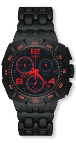 Swatch - Chrono Plastic - Black Dunes Red - SUIB408