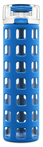 Ello Syndicate 20-Ounce BPA-Free Glass Water Bottle with Flip Lid, Cobalt (Glass Drinking Water Bottles compare prices)