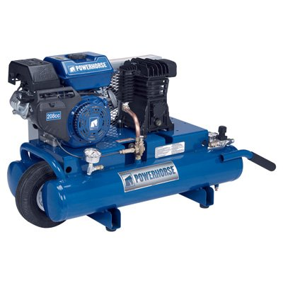 - Powerhorse Gas Twin Tank Air Compressor - 208Cc Engine, 8 Gallon