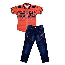 Colors Kids Shirt T-Shirt And Pant Combo Pack For Boys(3 - 4 Years)