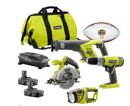 Check Out This Ryobi 18-Volt ONE + Lithium-ion 4-Tool Super Combo Kit P883