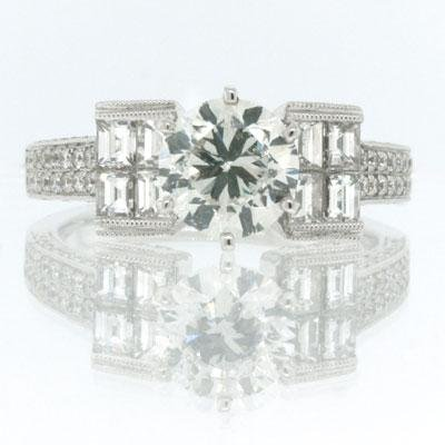 2.91ct Round Brilliant Cut Diamond Engagement