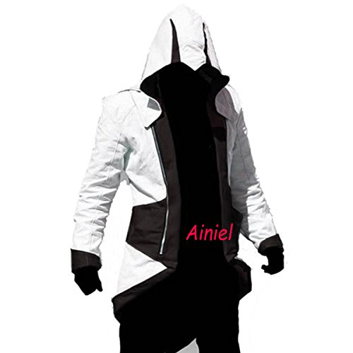 Cool Stylish Color Block Long Sleeve Halloween Cosplay Costume Hooded Jacket (Cool Cosplay compare prices)