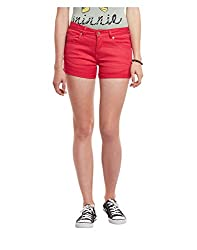 Yepme Women's Pink Cotton Shorts - YPWSORT5094_32