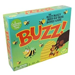 Kid's Board Game - Buzz! By Peaceable Kingdom - The Bizzy Buzzy Beat-the-Bear Cooperative Board Game