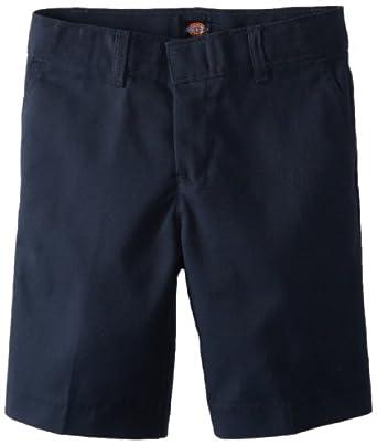 Dickies Little Boys' FlexWithaist Flat Front Short, Dark Navy, 5