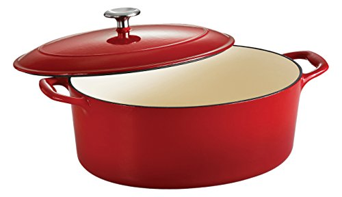 Tramontina Enameled Cast Iron Covered Oval Dutch Oven, 7-Quart, Gradated Red (Oval Enamel Cast Iron compare prices)