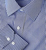 "2"" Longer Cotton Rich Non-Iron Striped Shirt"