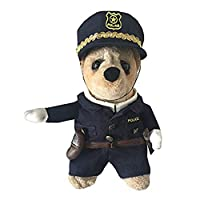 Lifeunion Novelty Cospaly Pet Dog Cat Costume Cool Police Uniform with Hat Cute Pet Policeman Outfit Jacket Clothing