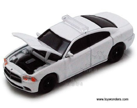 Greenlight Dodge Charger Police Car 2012 1:64 scale diecast model White 50752C - 1