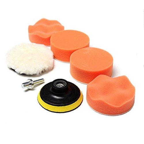 SHINA 7 Pcs 3inch Buffing Pad Auto Car Polishing Wheel Kit Buffer + M10 Drill Adapter (Car Polishing Wheel compare prices)