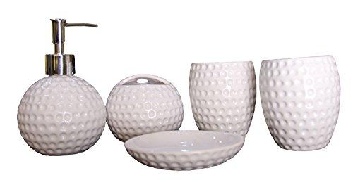 JustNile 5-Piece Ceramic Bathroom Accessory Set