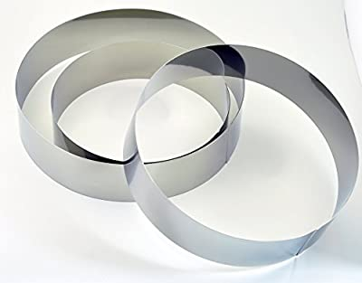 NewlineNY Stainless Steel 3 Sizes Round Molding Plating Forming Cake Mousse Rings, Set of 3
