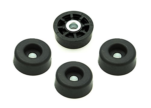 4 Super Soft Round Rubber Feet - .437 H X 1.062 D - Made in USA - Free Shipping USA (Soft Rubber Feet compare prices)