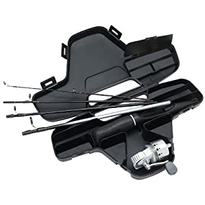 Daiwa Minisystem Minicast Ultra-Compact Spincast Reel and Rod Combo in Hard Carry Case by Daiwa