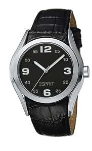 Esprit - ES900032005 - Montre Femme - Quartz Analogique - Cadran Noir - Bracelet Cuir Noir
