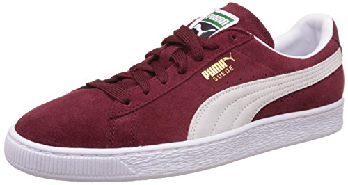 Puma Suede Classic 352634, Sneaker Uomo, Rosso (BURGUNDY/WHI 75BURGUNDY/WHI 75), 37.5