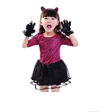 Halloween Costume Masquerade Show Dress up Animal Costumes Catwoman Dance Clothes