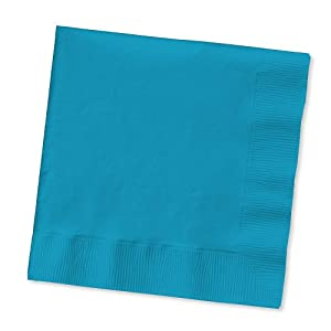Creative Converting Touch of Color 2-Ply 50 Count Paper Lunch Napkins, Turquoise