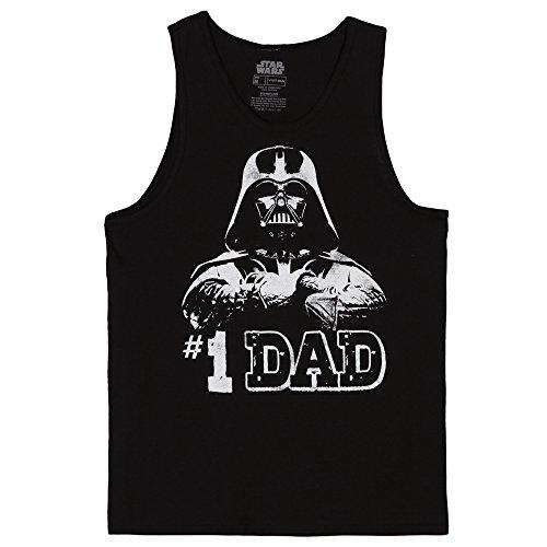 Star Wars #1 Dad Darth Vader Tank Top - Black (Large)