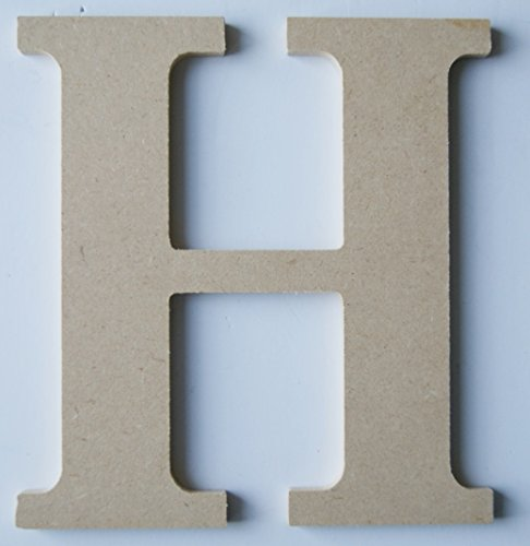 "Pressed Wood Initials Wall Decor - 8"" Classic H - 1"