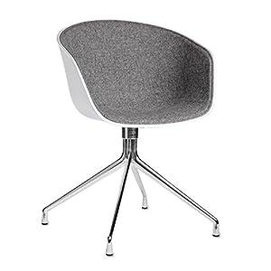 hay about a chair 20 armlehndrehstuhl gepolstert wei dunkelgrau stoff hallingdal 130 gestell. Black Bedroom Furniture Sets. Home Design Ideas